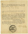 "Autographs:Military Figures, Tadeusz Kosciuszko Partly Printed Document Signed ""T Kosciuszko,"" one page, 6.5"" x 8"". Camp at Przybyszow, June 20, 1794..."