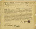 """Autographs:Military Figures, Nicholas Herkimer Partly Printed Document Signed """"Nicolas Herchhimer"""" and """"Adam Klock,"""" one page, 7.75"""" x 6"""". New Yo... (Total: 1 Item)"""