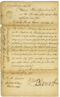 "Autographs:Statesmen, William Blount Manuscript Document Signed ""Wm Blount"" as""Governor in and over the Territory of the United Statessout..."