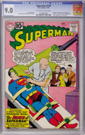 Silver Age (1956-1969):Superhero, Superman #149 (DC, 1961) CGC VF/NM 9.0 Off-white to white pages....