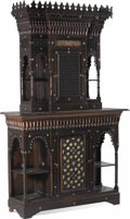 Furniture : Continental, A Moorish Revival Inlaid Cabinet. . Unknown maker, possibly Egyptor Syria. Circa 1890-1900. Hardwood, mother of pearl. Unma...(Total: 1 Pieces)