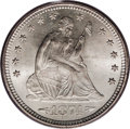 Seated Quarters: , 1874-S 25C Arrows MS66 PCGS. This Premium Gem is an exceptionalexample with frosty mint luster and brilliant silver surfac...