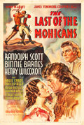 "Movie Posters:Adventure, The Last of the Mohicans (United Artists, 1936). One Sheet (27"" X41"").. ..."