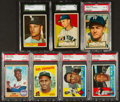 Baseball Cards:Lots, 1952 - 1968 Topps Baseball Stars & HoFers Graded Collection(7). ...