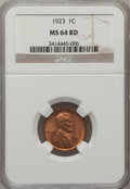 Lincoln Cents: , 1923 1C MS64 Red NGC. NGC Census: (218/226). PCGS Population(257/301). Mintage: 74,723,000. Numismedia Wsl. Price for prob...