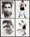 Boxing Collectibles:Autographs, Boxing Legends Signed Photographs Lot of 6....