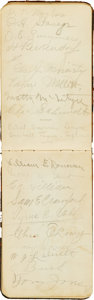 Autographs:Others, 1909 Detroit Tigers Team Signed Album with Cobb, Jennings....