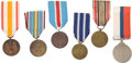 Militaria:Insignia, Poland: Six Military Medals, including: Polish Army in France Resistance Medal, roughly cast, copy; two Cieszyn Silesi...