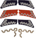 Militaria:Insignia, Poland: Four Sets of Pre-1939 Era Polish Officer's Military Collar Tabs, including: a pair of stamped brass trim with nickel...