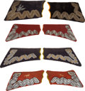 Militaria:Insignia, Poland: Three Sets and Two Individual Pre-1939 Era Polish Officer'sMilitary Collar Tabs, including: a pair of embroidered w...