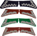 Militaria:Insignia, Poland: Four Sets of Pre-1939 Era Polish Officer's Military Collar Tabs, including: a pair of embroidered wire tabs with a n...