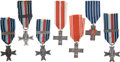 Militaria:Insignia, Poland: Seven World War II Medals, including: Polish Armed Forces in the West Military Action Cross for WWII, with 'Lagard...