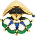 Estate Jewelry:Brooches - Pins, Enamel, Gold Brooch, Mauboussin. ...