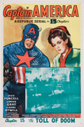 Memorabilia:Poster, Captain America Serial Movie Poster (Republic, 1944)....