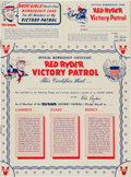 Golden Age (1938-1955):Western, Red Ryder Victory Patrol 1942 (Dell, 1942) Condition: NM-....