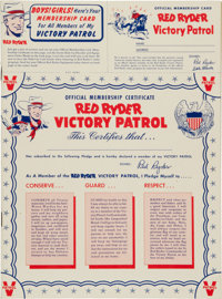 Red Ryder Victory Patrol 1942 (Dell, 1942) Condition: NM-