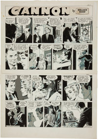 Wally Wood Cannon Comic Strip #C-42 Original Art (Wood and Richter, 1972)