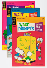 Walt Disney's Comics and Stories File Copy Group (Gold Key, 1970-80) Condition: Average VF+.... (Total: 43 Comic Books)