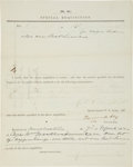 Military & Patriotic:Civil War, Confederate Requisition Signed By Gen. Turner Ashby. ...