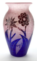 Art Glass:Other , A DEGUÉ GLASS VASE . Verrerie d'Art Degué, Paris, France, circa1930 . Marks: Degué (cameo) . 14-1/2 inches high (36.8 c...