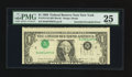 Error Notes:Inverted Third Printings, Fr. 1914-B $1 1988 Federal Reserve Note. PMG Very Fine 25.. ...