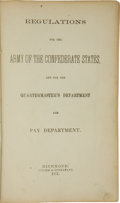 Autographs:Military Figures, Brigadier General Sterling Price Signed Copy of Regulations forthe Army of the Confederate States, and for the Qu...