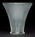 Art Glass:Lalique, R. LALIQUE CLEAR AND FROSTED GLASS EPIS VASE . Circa 1931 .Stenciled: R. Lalique, France . 6-3/4 inches hig...