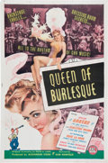 Memorabilia:Poster, Queen of Burlesque Movie Poster (PRC, 1946)....