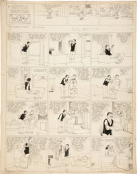 Harry Tuthill The Bungle Family Sunday Comic Strip Original Art dated 4-23-33 (McNaught Syndicate, 1933)