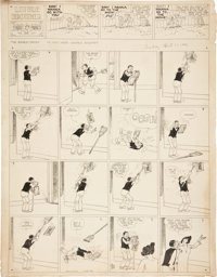 Harry Tuthill The Bungle Family Sunday Comic Strip Original Art dated 4-30-33 (McNaught Syndicate, 1933)