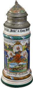 Military & Patriotic:WWI, Imperial German 9th Bavarian Infantry Regimental Stein...