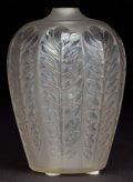 Art Glass:Lalique, R. LALIQUE CLEAR AND FROSTED GLASS TOURNAI VASE . Circa1924. Molded: R. Lalique . 5-1/4 inches high (13.3 c...