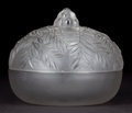 Art Glass:Lalique, R. LALIQUE FROSTED GLASS VALLAURIS BOX AND COVER . Circa 1928 . Engraved: R. Lalique, France . 5-1/2 inches ... (Total: 2 Items)