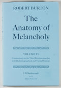 Books:Reference & Bibliography, Group of Three Books Relating to The Anatomy of Melancholy,including: Robert Burton. The Anatomy of Melanch... (Total: 3Items)