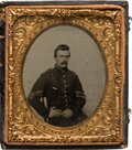 Photography:Ambrotypes, Sixth Plate Ambrotype of a Federal Sergeant....