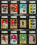Hockey Cards:Lots, 1930's -1980's Hockey Card Collection (225+) With Orr, Hull, HowePlus Many Other Stars and HoFers. ...