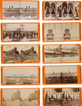 Photography:Stereo Cards, Group of Ten Orange Mount E & H. T. Anthony Civil War Stereo Views....
