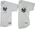 Baseball Collectibles:Uniforms, New York Yankees Stars Signed Jerseys Lot of 2....