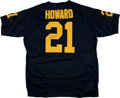 Football Collectibles:Uniforms, Desmond Howard Signed Michigan University Jersey....
