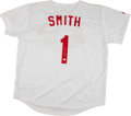 Baseball Collectibles:Uniforms, Ozzie Smith Signed Jersey....
