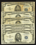 Fr. 1655* $5 1953 Silver Certificate Stars. Four Examples. Fine or Better; Fr. 1656* $5 1953A Silver Certificate Stars...