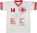Baseball Collectibles:Uniforms, Pete Rose Signed and Inscribed Cincinnati Reds Jersey....