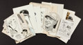 Baseball Collectibles:Others, Sporting News Archive Original Artwork Featuring 30+...
