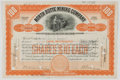 Antiques:Posters & Prints, Lot of Two Early 20th Century Mining Company Stock Certificatesfrom North Butte Mining Company. Each measures 11.25...