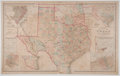 Antiques:Posters & Prints, Frank A. Gray. Wonderful Color Map of Texas and the Indian Territory. Philadelphia: O. W. Gray & Son, 1876. Measures 17 x 27...
