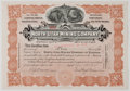 Antiques:Posters & Prints, Lot of Two Early 20th Century Mining Company Stock Certificatesfrom North Utah Mining Company. Each measures 11.5 x...