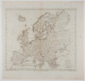 Antiques:Posters & Prints, T. Kitchin. Beautiful Engraved Map of Europe. [London]: Newgate, 1787. Measures 17 x 17.5 inches. Fold through center. Minor...
