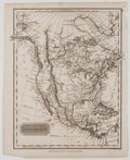 Antiques:Posters & Prints, Engraved Map of North America. London: Thomas Kelly, [ca. 1830]. Measures 10.5 x 8.5 inches. Minor toning with some light we...