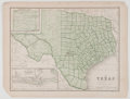 Antiques:Posters & Prints, Wonderful Engraved Map of Texas. [ca. 1860]. Measures 9.25 x 12.25 inches. Minor toning with some light edge chipping, not a...