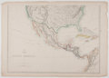 Antiques:Posters & Prints, T. Ettling. Wonderful Hand-Colored Map of Southern Portion of NorthAmerica, from Weekly Dispatch Atlas. [London]: W...